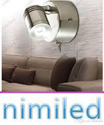 Brushed Nickel Headboard 2018 Nimi1025 Bed Headboard Lights 3w Cree Led Chrome Nickel