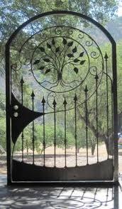 metal gate sale custom wrought iron steel garden decorative