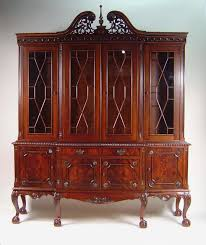 dining room china hutch ball u0026 claw mahogany dining room china cabinet with gadroon