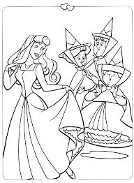 Coloriages Les Princesses Disney  La Belle au Bois Dormant