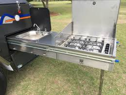 Stainless Steel Caravan Slide Out Kitchen 2 Drawers Sink Bench Sc Ff6 Model
