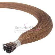 microbeads extensions light brown colour 8 micro i tip human hair