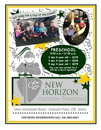 preschool tuition schedule new horizon christian fellowship