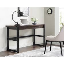 dark brown wood desks home office furniture the home depot