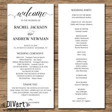 order of ceremony for wedding program wedding ceremony order best of rustic wedding program wedding