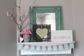 valentines mantel home decor with the cricut
