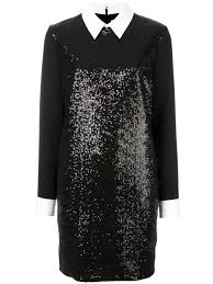 victoria victoria beckham sequin embellished dress black women
