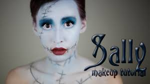 Nightmare Before Christmas Halloween Makeup by Sally Makeup Tutorial Halloween 2013 Youtube