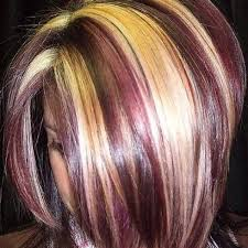 how to add colour chunks to hairstyles a month in hair colors today multi colored highlights the