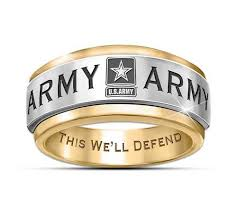 army jewelry u s army mens stainless steel spinning ring