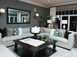 grey and beige living room white walls white glass window square