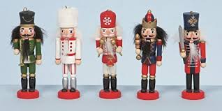 5 wooden hanging nutcracker decorations by