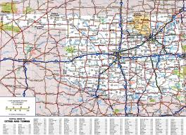 State Map With Cities by Large Detailed Roads And Highways Map Of Oklahoma State With All