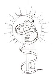 fantastic outline royal key tattoo design tattooshunter com