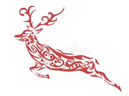ornamental deer stock vector image 62175831