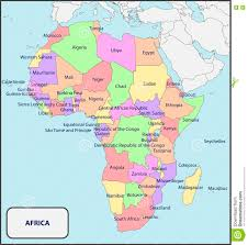 World Map Of Africa by Political Map Of Africa With Names Stock Photo Image 73627247
