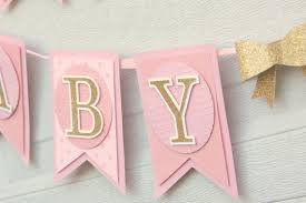 pink and gold baby shower decorations pink and gold baby shower decoration baby girl banner sweet baby