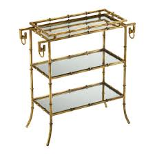 coffee table faux bamboo gold metal and glass coffee table omero