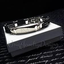 mens personalized bracelet mens personalized id bracelet uniqjewelrydesigns