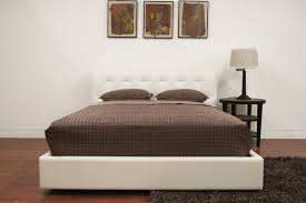 Are Chesterfield Sofas Comfortable Baxton Studio Modern White Leather Chesterfield Bed Leather