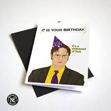 this is the birthday card it is your birthday birthday card tv show themed a6