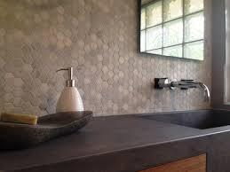Hexagon Backsplash Tile by Ocean White 2