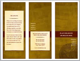 tri fold brochures templates unique tri fold brochure template