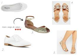 sandales plates mariage mode on ose les chaussures plates pour mariage