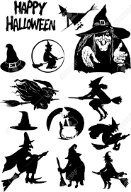 halloween silhouettes royalty free cliparts vectors and stock