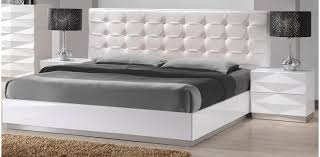 Bed Sets White Modern White Leatherette 5pc Bedroom Set