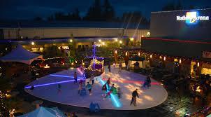 outdoor ice pond city centre park
