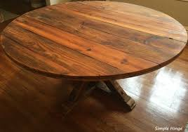 60 u2033 round barn wood table simple hinge llc