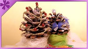 diy choinka z szyszki pine cone christmas tree eng annotations