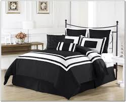 Cream And Black Comforter Bedroom Inspiring Decorating Ideas Using Small Blue Club Chairs