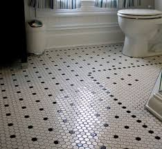 black and white hexagon bathroom floor tile design flooring