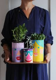 upcycle cans into cute planters para los pinterest