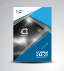 blue cover annual report cover design brochure design fl yer