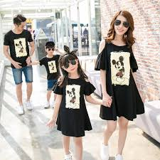 2017 summer mother daughter dresses mom and daughter dress mickey