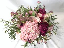 Cascading Bouquet Pink And Burgundy Cascading Bouquet By Florals Actually