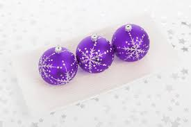 purple bauble decorations free stock photo domain pictures