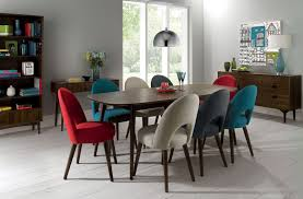 dining rooms wonderful multi coloured fabric dining room chairs