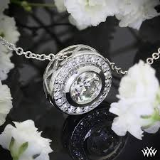diamond style necklace images Halo bezel 39 diamond pendant 273 jpg