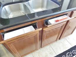 How To Install A Sink Front Tip Out Tray Be My Guest With Denise - Kitchen sink drawer