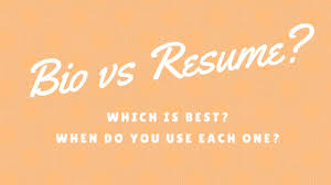 Resume Bio Example Bio Vs Resume What U0027s The Difference And Which Is Best