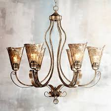 Amber Chandelier Franklin Iron Works Amber Scroll 31 1 2