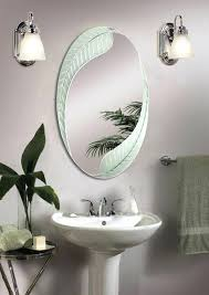 Oval Bathroom Mirrors Brushed Nickel Bathroom Oval Mirrors Oval Mirror Contemporary Bathroom Mirrors