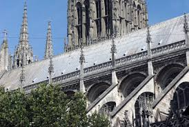 flying buttresses in rouen cathedral french moments french moments