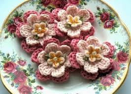 Crocheted Flowers - 13 best crochet asters images on pinterest crocheted flowers