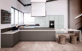 contemporary kitchen wooden lacquered opal pura lineaquattro