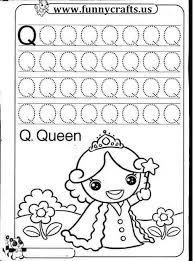 letter q writing practice worksheets funnycrafts